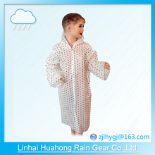 PE PEVA before open children gown raincoat