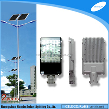 IP65 power supply dc solar lamp posts 4m for road with double light arms