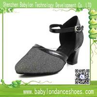 Professional round toe gray satin spanish dance shoes latin salsa dance sneakers