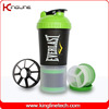 600ml plastic shaker bottle with netting and container, BPA Free (KL-7030)