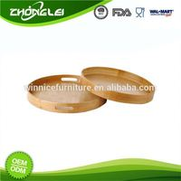 Wholesale SGS Cost Effective New Unfinished Round Wooden Serving Tray