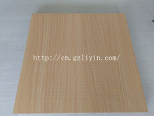 high quality 1mm micro hole wooden perforated acoustic panel for interior wall decoration