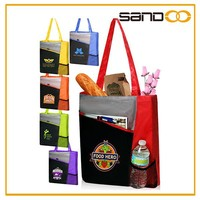 Customized lightweigt 600D polyester canvas tote bag, wholesale tote bags no minimum