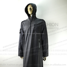 2013 zipper design hooded robes for men abaya wholesale Islamic clothing