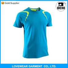 High Quality custom 92% polyester 8% spandex mens sports t shirt
