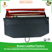 wholesale leather business folder with card holder / fashionable file folders made in india / leather folder with pen holder