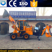 ZSZG new brand backhoe loader for sale MINI excavator with chinese engine
