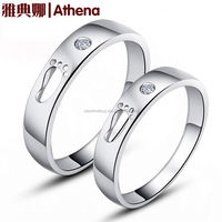 Genuine 925 sterling silver ring love couple rings trajectory solid version Korean jewelry wholesale jewelry
