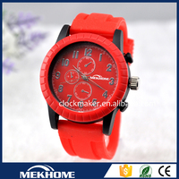 hot selling silicone quartz brand watch for woman 2014