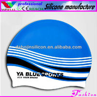 pattern silicone swimming caps,rubber swim cap