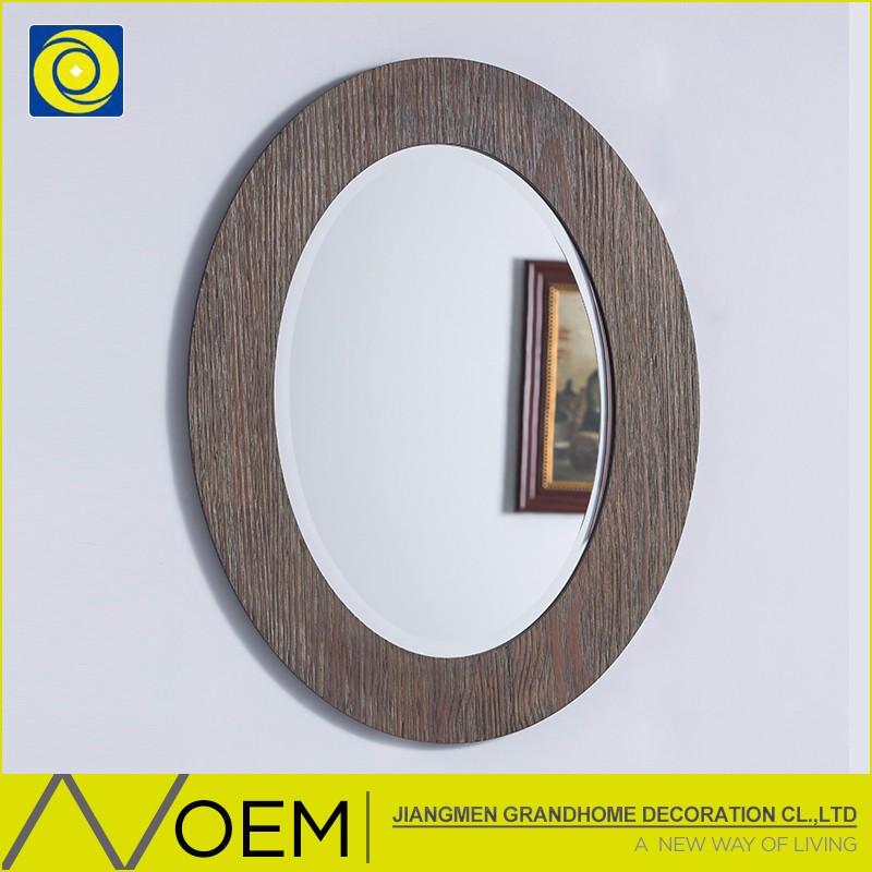 Conception de maison d coratif chambre mur mont noir for Miroir ovale cadre bois