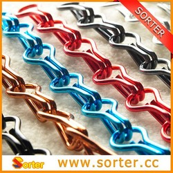 new design high quality decorative anodised double jack chain for window/door curtain