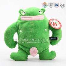Green soft plush toy big belly frog stuffed animal