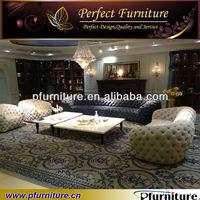 Top quality italia leather tufted sofa (PFS3884A)