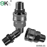 stainless steel hydraulic release water hose quick connector