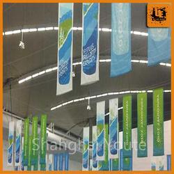 Outdoor advertising display use hanging poster waterproof fabric hanging banner printing