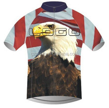 ouxin001 women bicycle clothing, Flag and eagle bicycle jersey, TEAM race and club custom bicycle wear