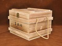Christmas ornament wooden art craft wine box