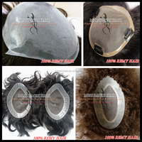 Alibaba Trade Assurance Paypal Accepted Natural Looking Hairline Professional Indian Remy Human Hair Toupee / Wig For Men