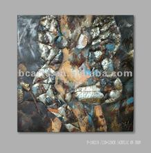 handmade abstract metallic body paintings sexy paintings modern geometric pattern iron painting