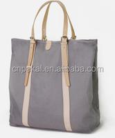 Canvas shoulder grey bag for women