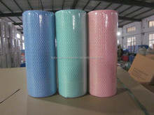 Viscose/Polyester Non Woven Spun Lace Cleaning Cloth/Non Woven Fabric