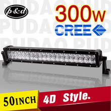4D design 300w Long life double rows led light bars for trucks