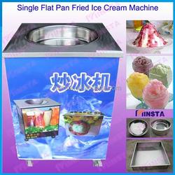free shipping hot sale flat pan fried ice cream machine stir frying pan ice cream machine