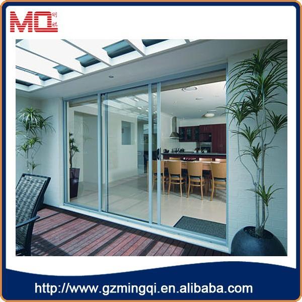 Top sale white aluminum large interior 3 panel sliding for Large sliding glass doors for sale