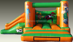 high quality boy inflatable combo bouncer for party, inflatable castle with slide