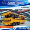 Hot sale 2/3 axles flatbed trailer, cargo box semi trailer with side wall doors for bulk cargo transportation