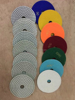 "4"" engineered stone polishing pads"