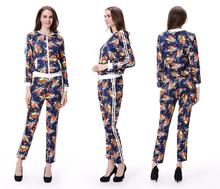 2015 Fancy Flower Printing Ladies Suite for Sale Women Suits