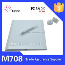 UGEE M708 Digital Wireless Pen/Hot Keys Animation Design Graphic Tablet with Big Active Area