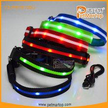 2015 new design splendid led pet collar TZ-PET6100U recharegeable LED pet collars