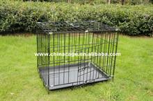 Folding metal wire double door dog cage
