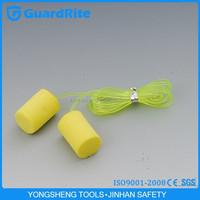 GuardRite Brand Ear Plugs Protection Yellow Foam Earplugs Cord Earplugs