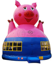 lovely pig big inflatable bouncy castle for sale, inflatable amusement park