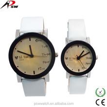 China Manufacturer fashion leather watches japan movement lover watches