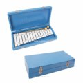 juguete educativo instrumento musical carillón glockenspiel 15 clave con estuche de madera