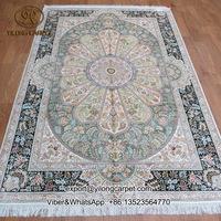 5x7.5ft visual feast colorful handmade qum rug 100% silk persian carpet