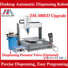For plastic shell auto glue dispenser ZM-300ED provide AB mixing glue dispensing machine factory