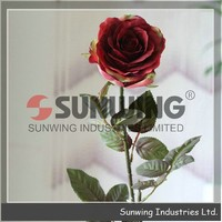 Sunwing Real Touch Crown Rose, cheap wholesale artificial flower wedding bouquet