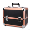 Attractive aluminum beauty Case with Beautiful PVC Surface and 4 Trays Inside