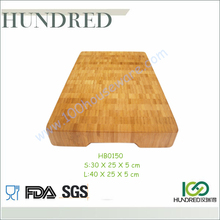 High Quality Bamboo Thick Chopping Board, Bamboo Chopping Block End Grain, Bambu Cutting Board with Handle