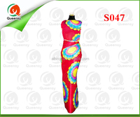 S047 100% Polyester Woven Colorful Satin For Garment Lining printed satin fabric