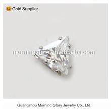 AAA cubic zirconia gold heart shaped earrings