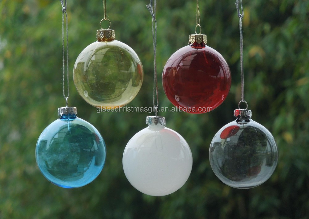 Beautiful hanging clear christmas ball hand blown
