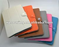 triple folding leather casae pouch bag for mini ipad