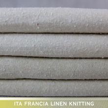 2016 wholesale light raw white 100% noil silk knit fabric for dress